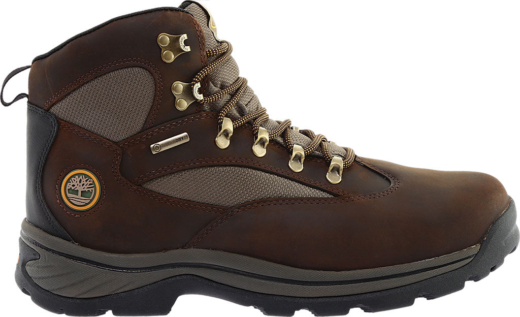 Timberland Men's Chocorua Trail Mid Waterproof Hiking Boot - Brown/Green 15130 - ShoeShackOnline