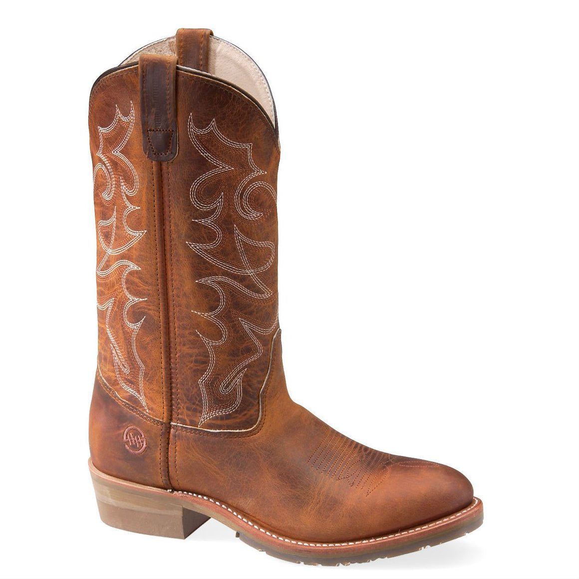 "Double-H Men's 12"" Domestic Gel ICE™ Work Western - Brown DH1552 - ShoeShackOnline"