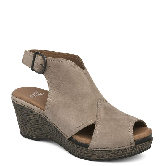 Dansko Women's Vanda Wedge - Taupe Milled Nubuck 1701167000
