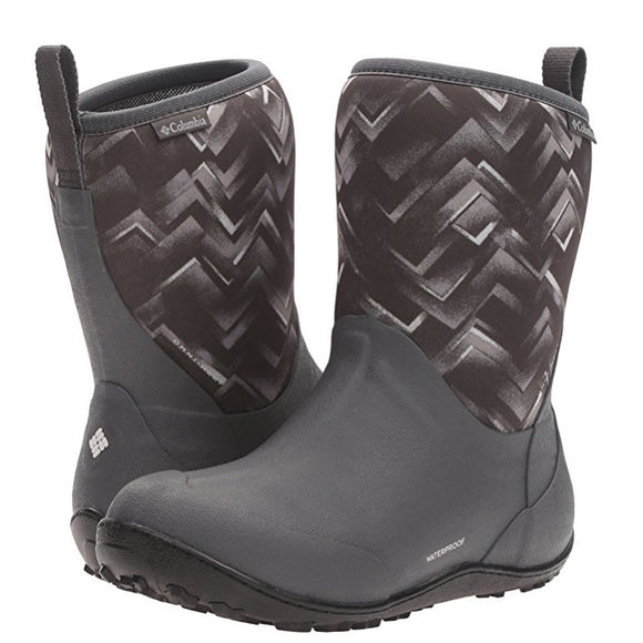 Columbia Women's Snowpow Mid Print Omni-Heat Boot - Dark Grey/Cool Grey 1701401-089