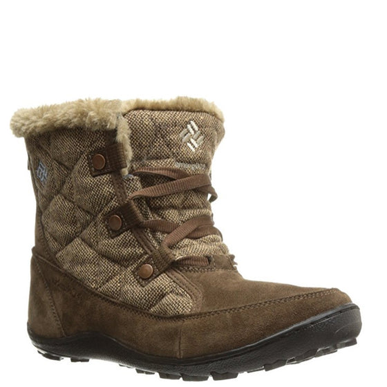 Columbia Women's Minx Shorty Omni Heat Wool Boot - Umber/Dark Mirage 1702001-261