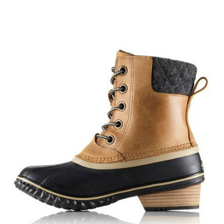 Sorel Women's Slimpack 2 Lace Duck Boot - Elk/Black 1702251-286 - ShoeShackOnline
