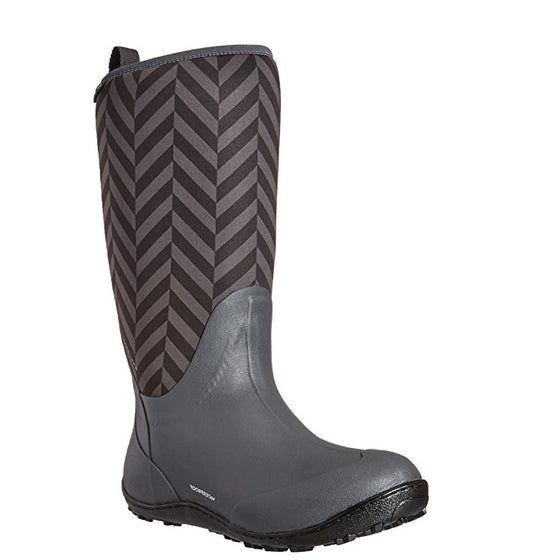 Columbia Women's Snowpow Tall Print Omni-Heat WP Boots - Dark Grey/Cool Grey 1707471-089 - ShoeShackOnline