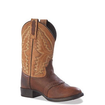 Old West Youth Ultra Flex Western Boots - Brown/Tan 1936Y