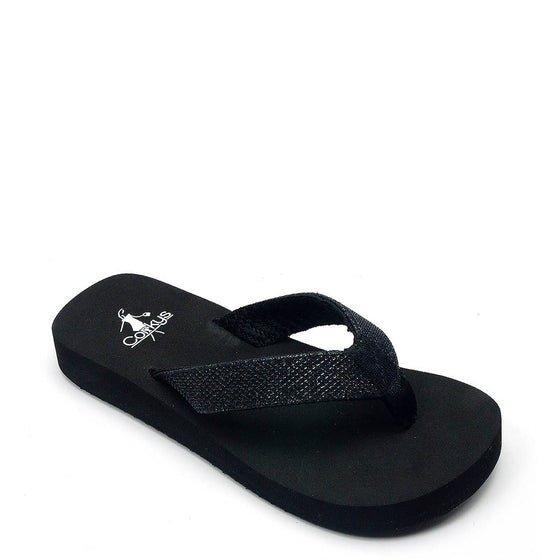 Corkys Kid's June Flip Flop - Black 20-2033 - ShoeShackOnline