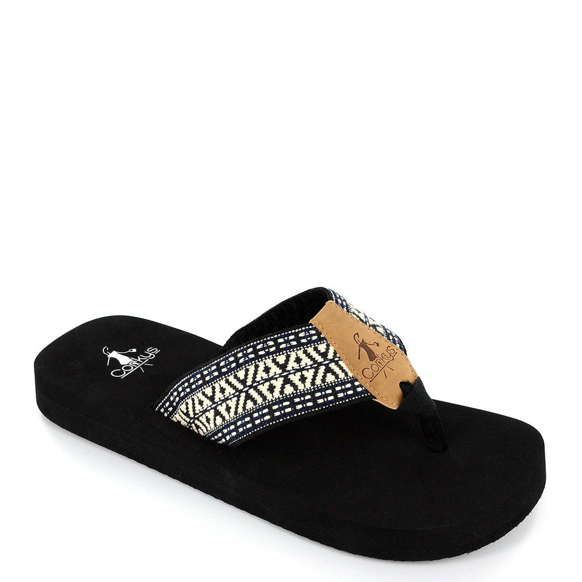 Corkys Women's Cypress Sandal - Black/Cream 20-8084