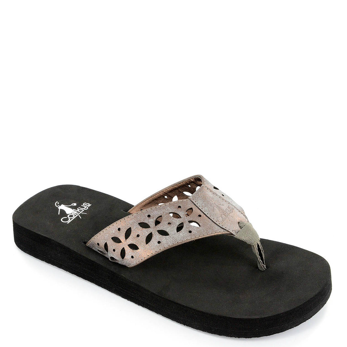 Corkys Women's Luna Sandal - Brushed Bronze 20-8105