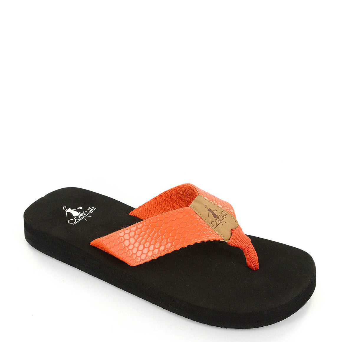 Corkys Women's Secret Flip Flop - Orange 20-8108