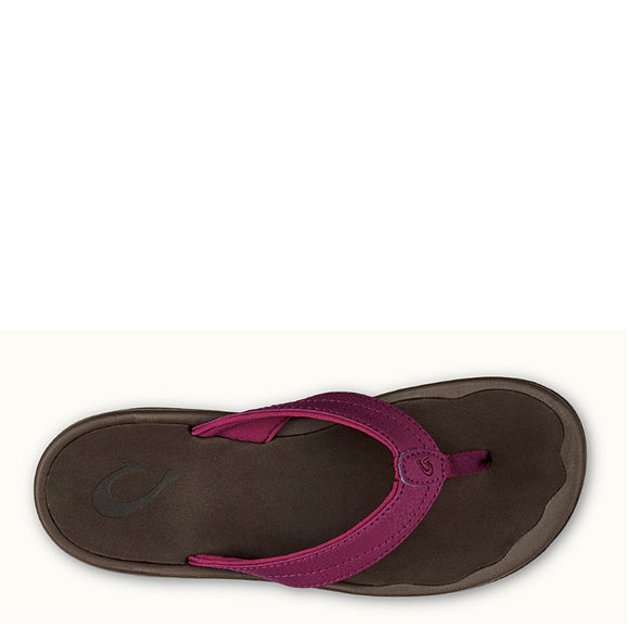 Olukai Women's 'Ohana Sandal - Pokeberry/Dark Java 20110-PB48 - ShoeShackOnline