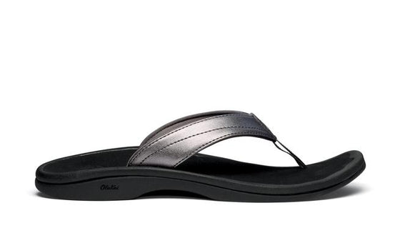 Olukai Women's 'Ohana Sandal - Pewter/Black 20110-7340 - ShoeShackOnline