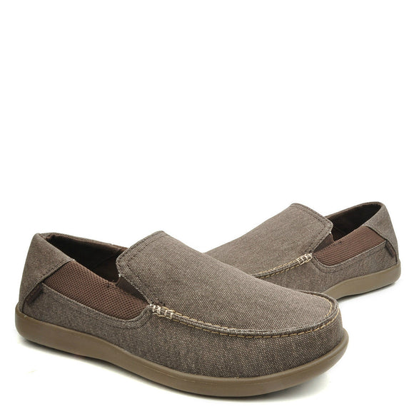 Crocs Men's Santa Cruz 2 Luxe Loafer - Espresso/Walnut 202056-23B - ShoeShackOnline