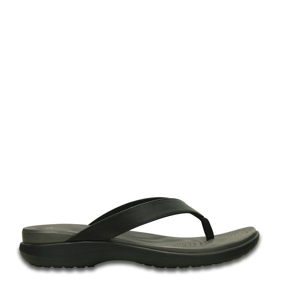 Crocs Women's Capri V Flip Flop - Black/Graphite 202502