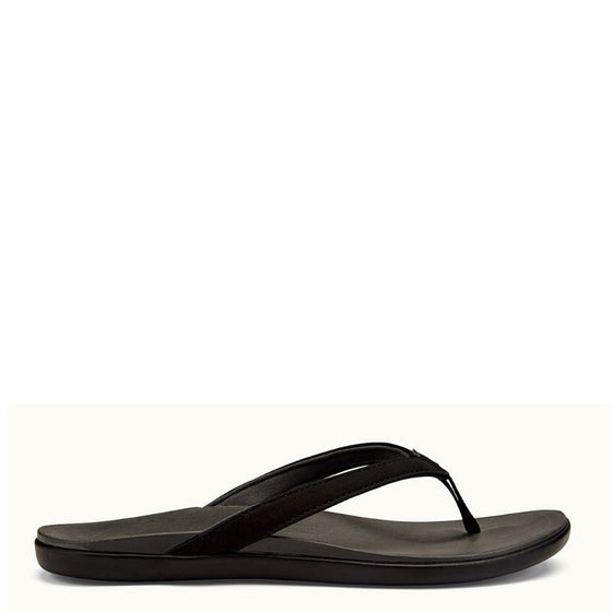Olukai Women's Ho'Opio Sandal - Black/Dark Shadow 20294-406C