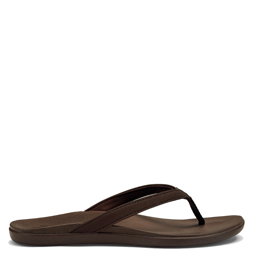 Olukai Women's Ho'Opio Sandal - Kona Coffee/Kona Coffee 20294-SASA - ShoeShackOnline