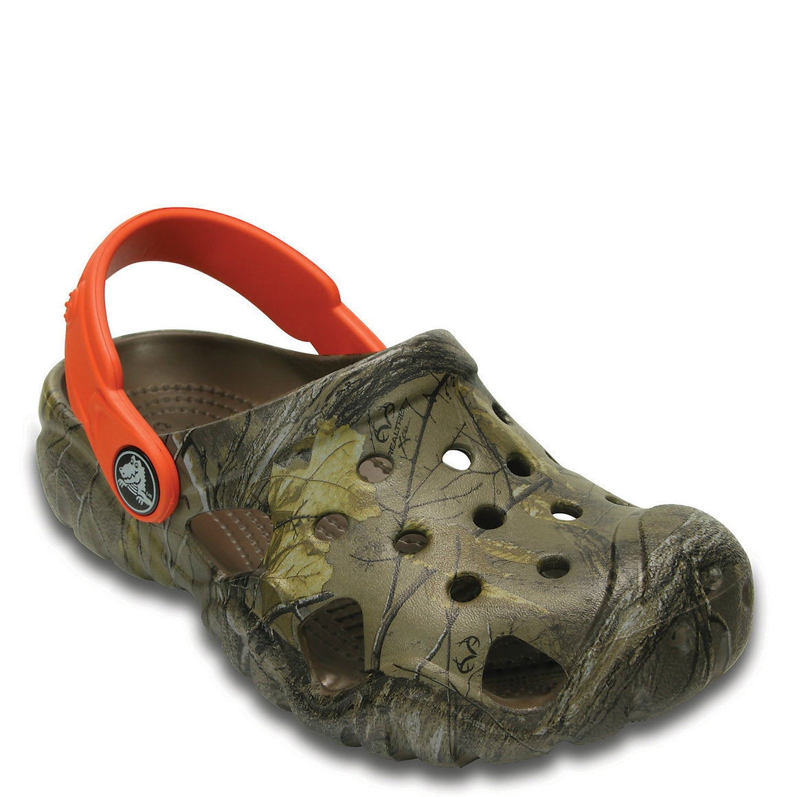Crocs Kid's Swiftwater Realtree Xtra Clog - Walnut/Tangerine 203201-280 - ShoeShackOnline