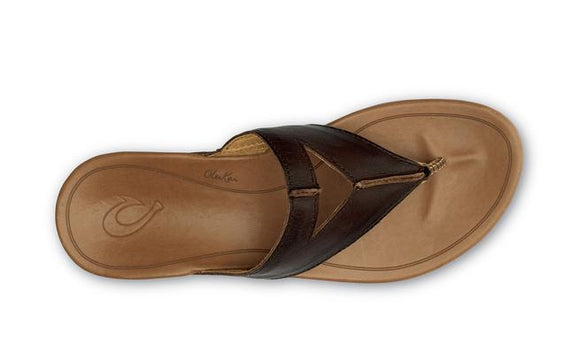 Olukai Women's Lala Sandal - Kona Coffee/Tan 20321-SA34 - ShoeShackOnline