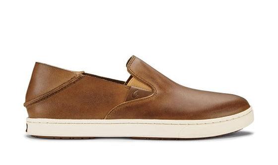 Olukai Women's Pehuea Leather Slip On Shoe - Fox/Fox 20329-FXFX