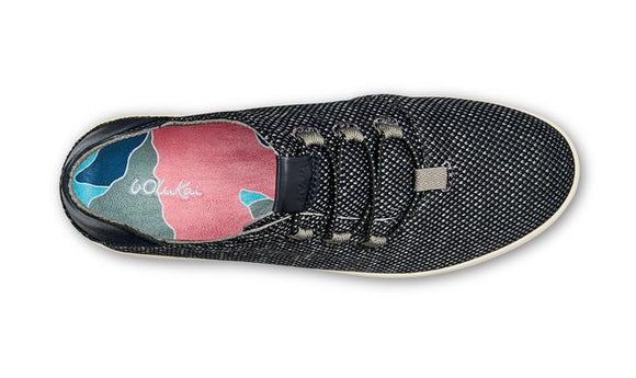 Olukai Women's Hale'Iwa Li Ha'a Slip On Sneaker - Black/Off White 20394-4018 - ShoeShackOnline