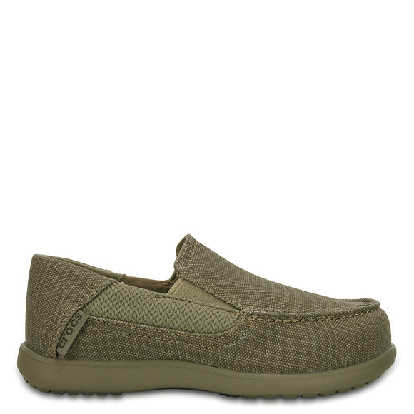 Crocs Toddler's Santa Cruz II Loafer - Khaki/Cobblestone 204599-2U6 - ShoeShackOnline