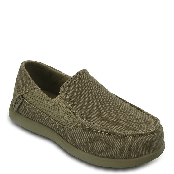 Crocs Toddler's Santa Cruz II Loafer - Khaki/Cobblestone 204599-2U6