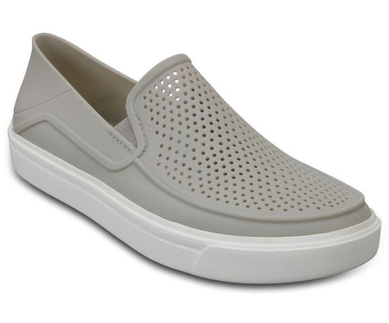 Crocs Women's CitiLane Roke Slip-On Shoe - Pearl White 204622-101