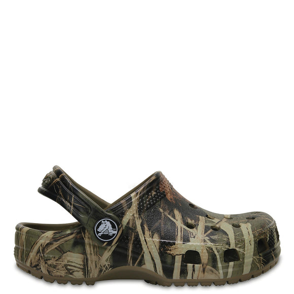 Crocs Kid's Classic Realtree Clog - Khaki 204624-260 - ShoeShackOnline