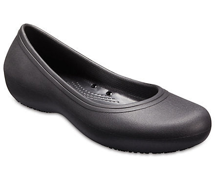 Crocs Women's At Work Flat - Black 205074-001 - ShoeShackOnline