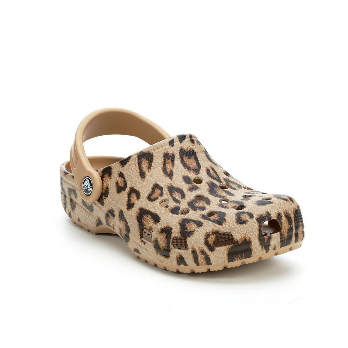 Crocs Classic Animal Print Clog -  Leopard/Gold 205838-98R