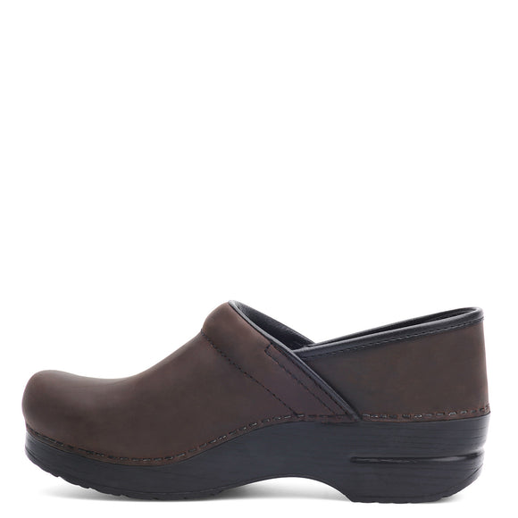 Dansko Women's Professional Clog - Antique Brown/Black Oiled Leather 206780202 - ShoeShackOnline