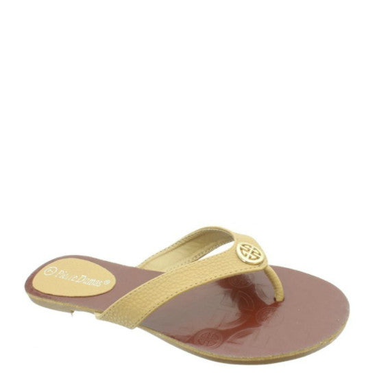 Pierre Dumas Women's Flora-1 Thong Sandal - New Tan 21175-120 - ShoeShackOnline