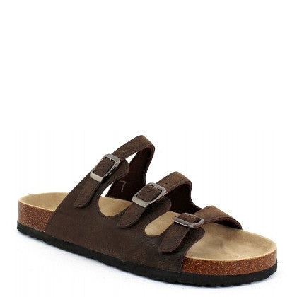Outwoods Women's Bork-43 3-Strap Sandal - Brown 21320-702