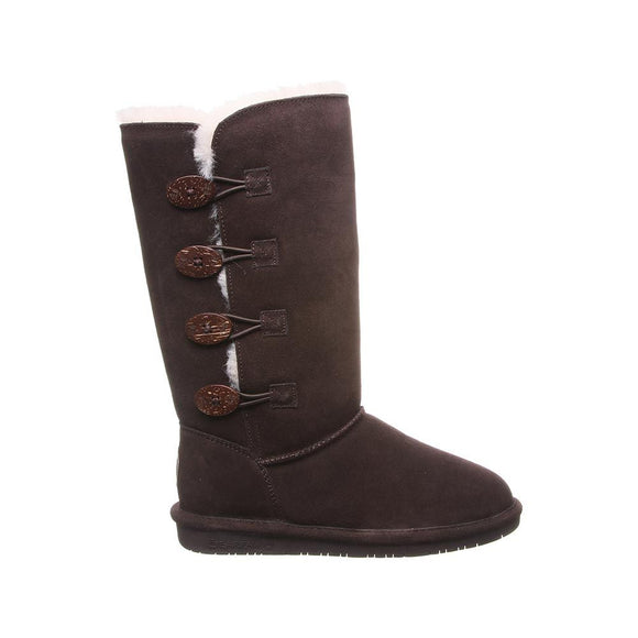 Bearpaw Women's Lori Tall Boot 2250W - Chocolate - ShoeShackOnline