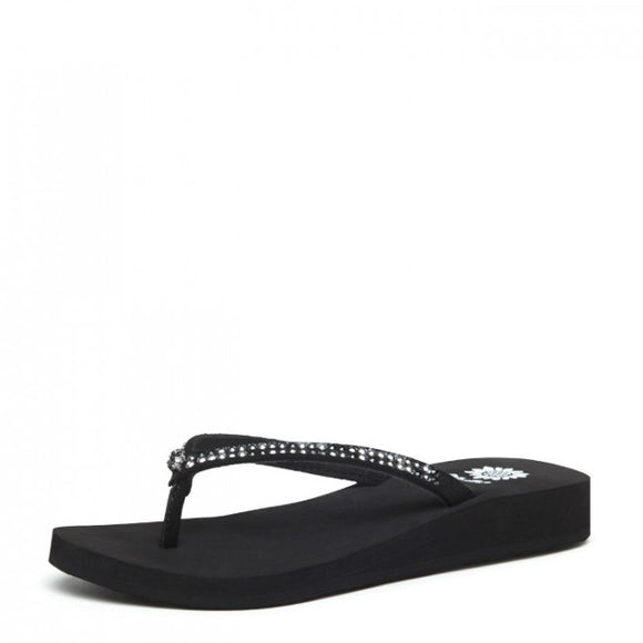 Yellow Box Girl's Jello II Sandal - Black/Pewter 25819