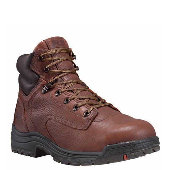 "Timberland Pro Men's Titan 6"" Alloy Toe Work Boots - Coffee 26063 - ShoeShackOnline"