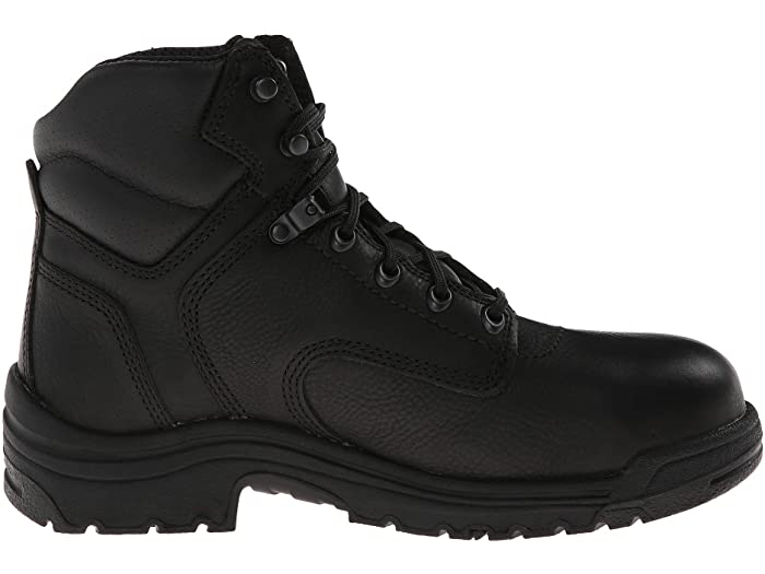 "Timberland Pro Men's 6"" Titan Alloy Toe Work Boot - Black 26064 - ShoeShackOnline"