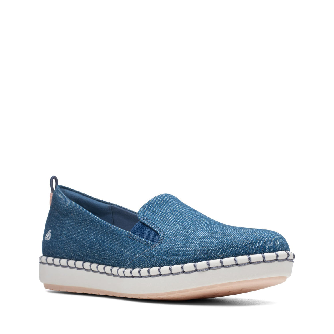 Clarks Women's Step Glow Slip On - Denim - ShoeShackOnline