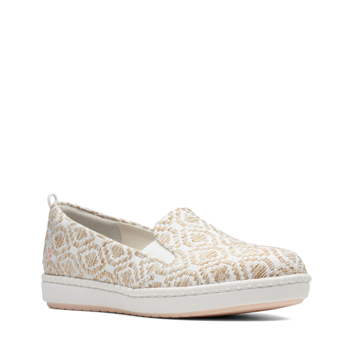 Clarks Women's Step Glow Slip On - Natural - ShoeShackOnline