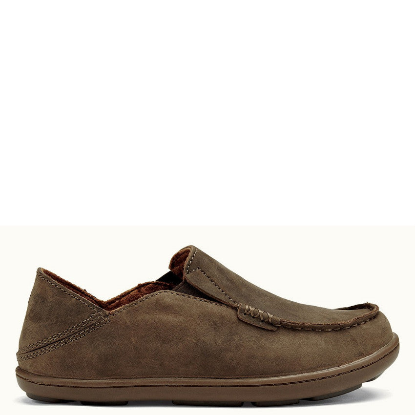 Olukai Boy's Moloa Slip On - Dark Wood/Mustang 30130-6313