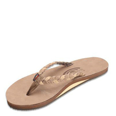 Rainbow Women's Twisted Sister Flip Flops - Dark Brown/Sierra Brown 301ALDBS - ShoeShackOnline