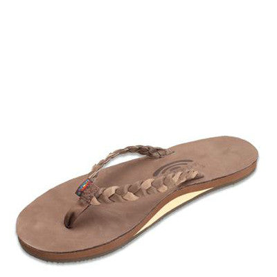 Rainbow Women's Twisted Sister Flip Flops - Expresso/Dark Brown 301ALDBS - ShoeShackOnline