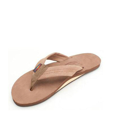 Rainbow Women's Single Layer Premier Leather Flip Flops - Dark Brown 301ALTS - ShoeShackOnline