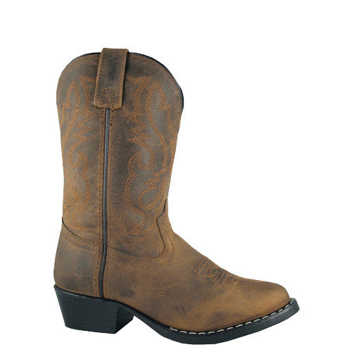 Smoky Mountain Kid's Denver Western Boots - Oil Distressed Brown 3034C - ShoeShackOnline