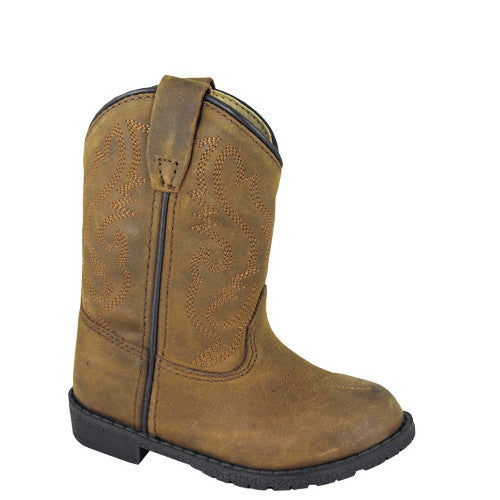 Smoky Mountain Toddler's Hopalong Western Boots - Brown Distress 3234T - ShoeShackOnline