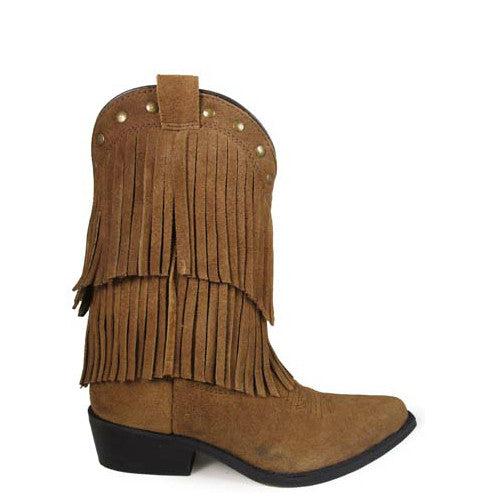 Smoky Mountain Kid's Wisteria Fringe Western Boot - Brown 3514C - ShoeShackOnline