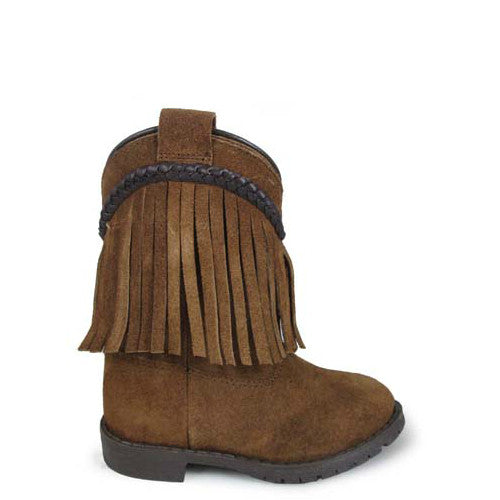 Smoky Mountain Toddler's Hopalong Fringe Western Boot - Brown 3575T
