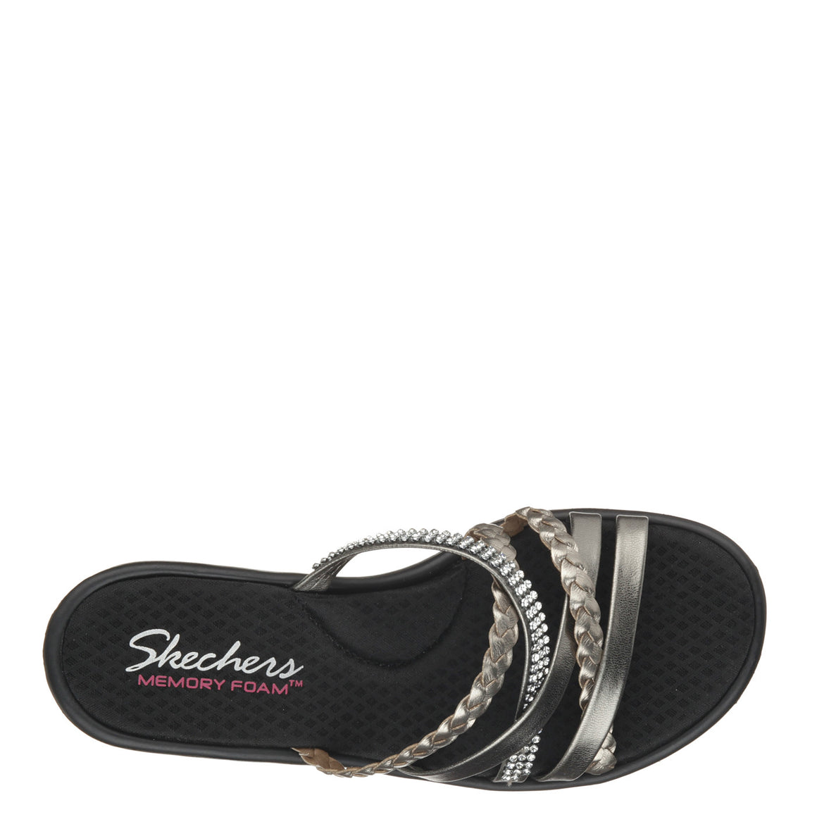 42cfec398de6 Skechers Women s Rumblers - Wild Child - Pewter 38566 - ShoeShackOnline