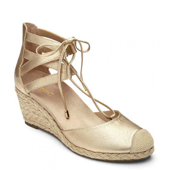 Vionic Women's Calypso Espadrille Wedge - Gold