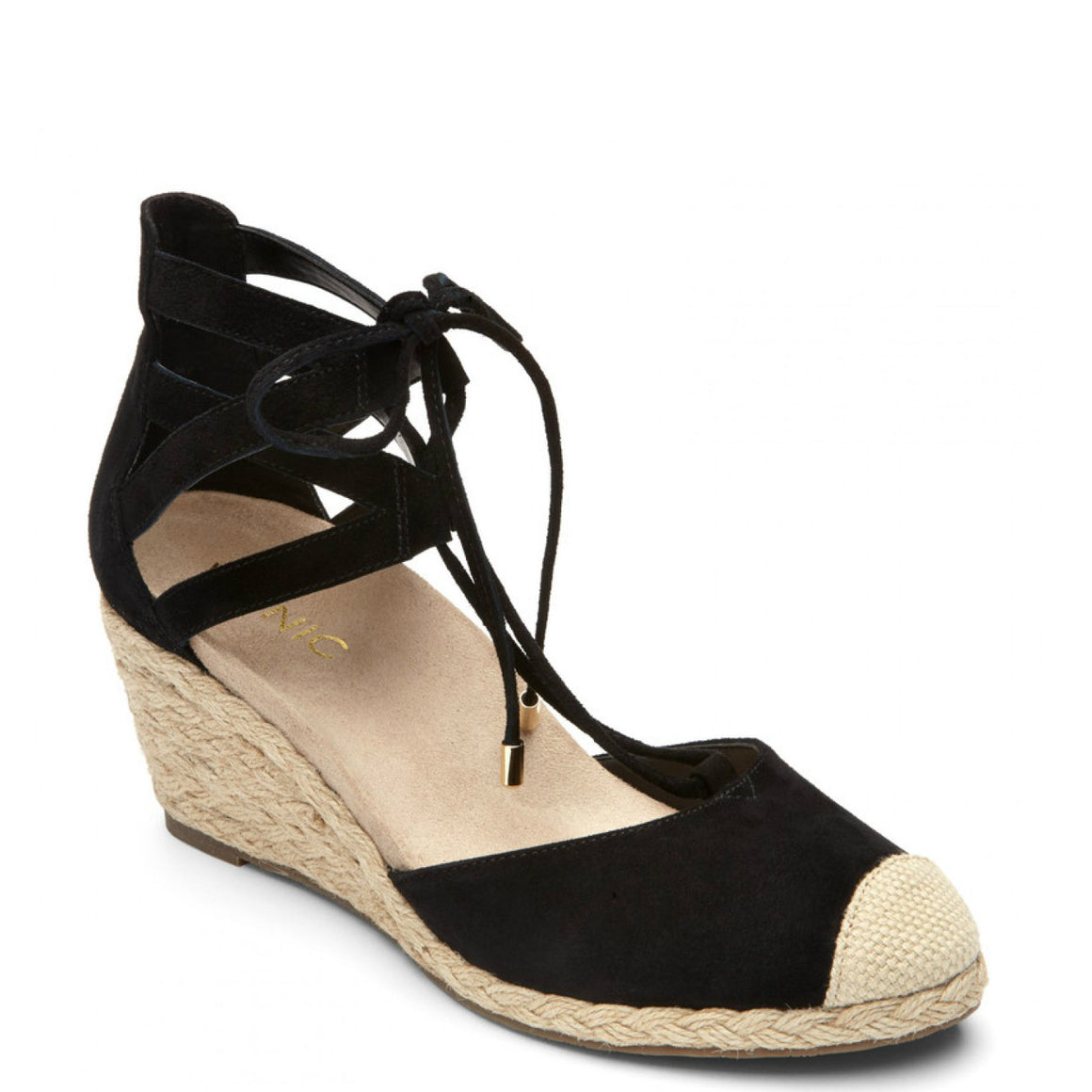 Vionic Women's Calypso Espadrille Wedge - Black
