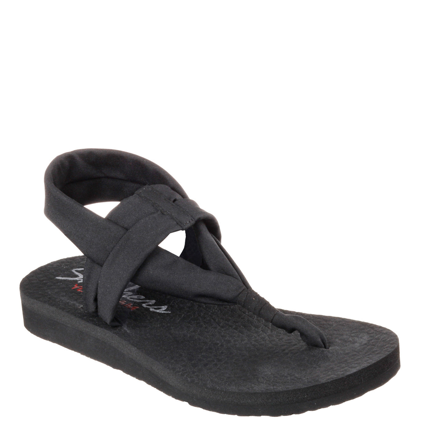 meet 12695 07f7b Skechers Women s Meditation Studio Kicks Sandal - Black 38615 ...