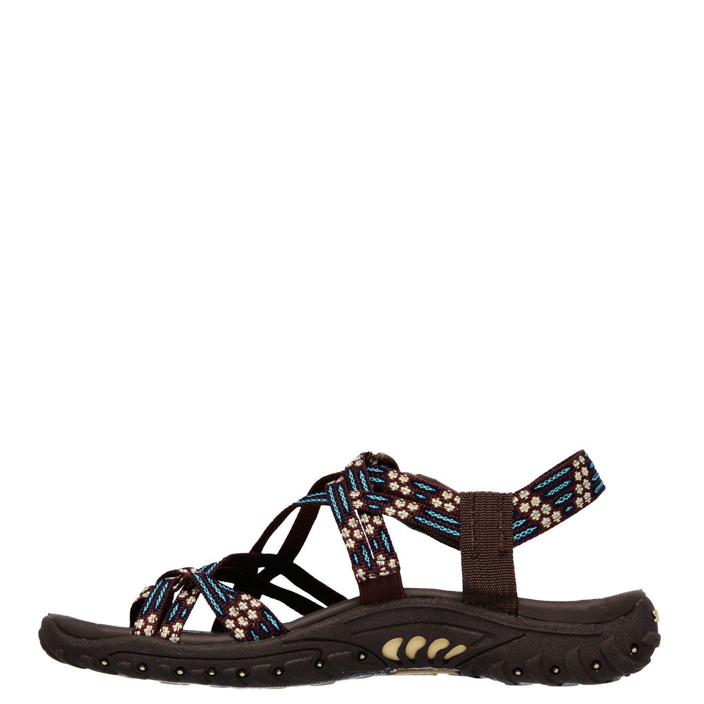 ... Skechers Women's Reggae Loopy Sandal - Chocolate/Blue 40875 ...